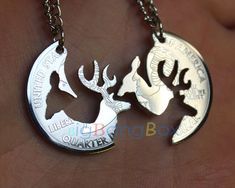 Advance Sale--Replacement/Substitute Buck or Doe Interlocking Pendant,Love necklace, infinity charm necklace on Etsy, $10.99