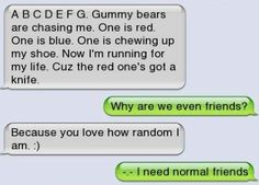 Hilarious texts - lol! I'm so doing this to someone!