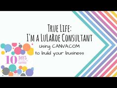 135fcb2d4f64 Using canva.com to help build your Lularoe Business! - YouTube Marketing  Materials,