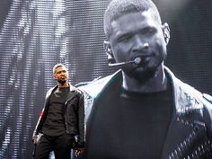 It's double the Usher! The singer goes life-size on Saturday while performing at the Bell Centre in Montreal, Canada, the first stop on his UR Experience tour.