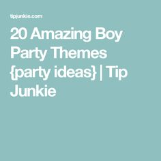 20 Amazing Boy Party Themes {party ideas} | Tip Junkie