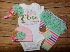 baby girl coming home outfit newborn baby girl by SweetnSparkly