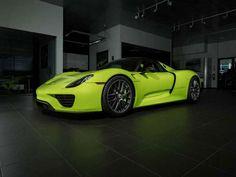 Stunning 'Acid Green' Porsche 918 Spyder Looking For A New Home