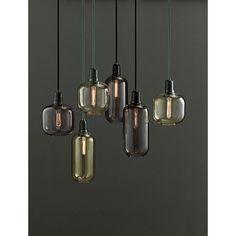 Een aantal stijlvolle hanglampen van het Deense woonmerk Norman Copenhagen