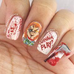 Horror Movie Nail Art Inspiration | POPSUGAR Beauty