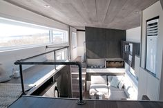 """This sleek tiny house on wheels, """"Sakura"""", is built by Minimaliste Tiny Houses based in Quebec, Quebec, Canada! This home is a custom build by Minimaliste Tiny Tiny House Swoon, Tiny House Living, Tiny House Plans, Tiny House Design, Tiny House On Wheels, Tiny Spaces, Loft Spaces, Minimaliste Tiny House, Luxury Restaurant"""