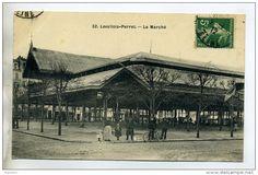 92 LEVALLOIS PERRET  Le Marché Les Halles Place 1912 Timb     /D10-2016