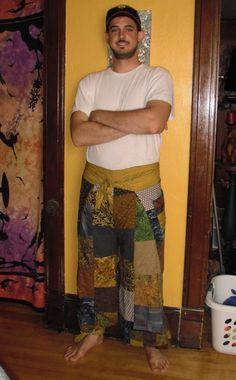 CUSTOM for BRENDAN Patchwork Wrap Pants by MadebyFreaks on Etsy, $45.00