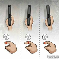 Finger placement is the biggest mistake made by shooters.