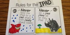 Oh so adorable idea to creatively illustrate iPad Rules: http://erikxraj.com/blog/keeping-your-ipad-clean-and-safe-in-speech-therapy-free-download