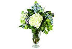 Nantucket Bouquet in Footed Vase on OneKingsLane.com