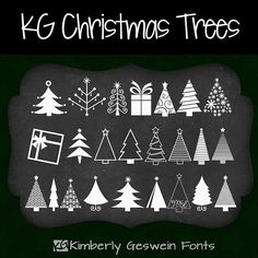KG Christmas Trees font :) Perfect for holiday cards, Christmas letters, and more!