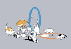 Portal cats - so adorable and portal-oriented :) oh look there's @Rachel Harrington and me!