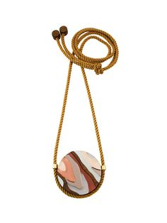 Marble III Necklace in Apricot by Wolf & Moon