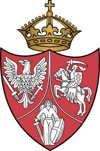 Coat of Arms of the Polish-Lithuanian-Kievan Commonwealth after the 1863 january Uprising against Russian Empire. White Eagle (Poland), Vytis (Lithuania) and Archangel Michael (Kievan Ruthenia)