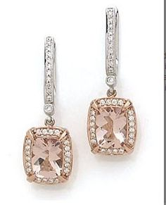 Morganite and rose gold
