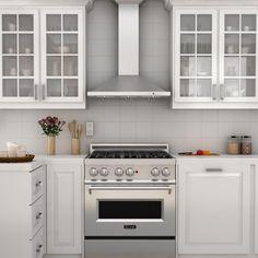 Kitchen Hoods, Kitchen Stove, Kitchen And Bath, Kitchen Decor, Kitchen Cabinets, Kitchen Ideas, Kitchen Backsplash, White Cabinets, Condo Kitchen