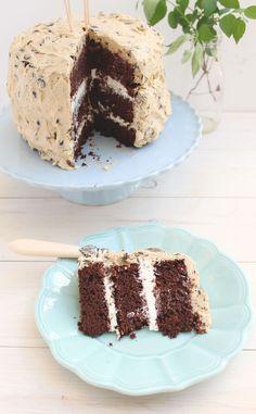 Cookie Dough  Whipped Cream Chocolate Cake