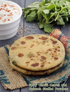 Mili Jhuli Paratha ( Know Your Green Leafy Vegetables ) Healthy Indian Recipes, Diabetic Recipes, Sicilian Recipes, Sicilian Food, Paratha Recipes, Smoothies With Almond Milk, Veg Dishes, Greens Recipe, Spinach