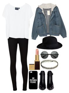 """""""Untitled#1224"""" by mihai-theodora ❤ liked on Polyvore featuring Pieces, AG Adriano Goldschmied, Alexander Wang, Casetify, INDIE HAIR, MINKPINK and Tom Ford"""