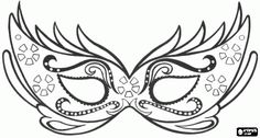 Mardi Gras Mask Template | elegant mask for carnival party pirate mask with large mouth