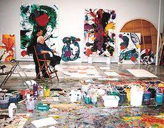 abstract expressionist artist Sam Francis, Venice studio