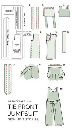 how to make a jumpsuit with a tie waist