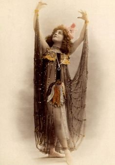 Dancer. 1900s - sheer skirt attached to wrists
