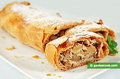 Apple Strudel with Almonds and Banana | Baked Goods | Genius cook - Healthy Nutrition, Tasty Food, Simple Recipes