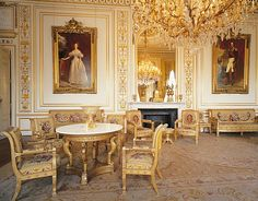 Salon, Royal Palace of Brussels, Belgium.