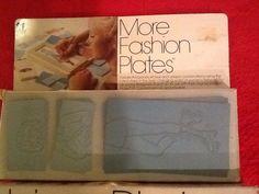 VTG TOMY More Fashion Plates, 1978, No. 2510 Box, 16 Multi-Colored Plates #TOMY