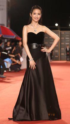 林依晨穿LANVIN禮服、配戴Cartier珠寶。圖/聯合報系攝影中心