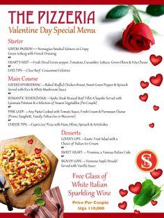 Speke Hotel Pizzeria Valentine's Day Special Menu