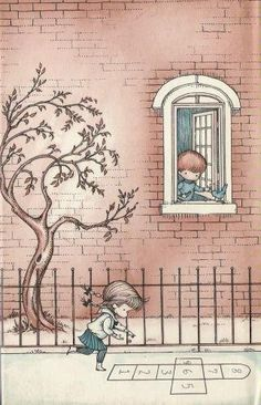 Childhood is a time of innocence - by Joan Walsh Anglund Joan Walsh, Children's Book Illustration, Book Illustrations, Vintage Children, Vintage Art, Book Art, Images, Childhood, Drawings