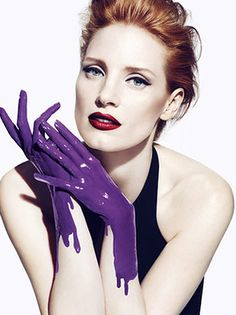 Jessica Chastain for YSL Manifesto fragrance