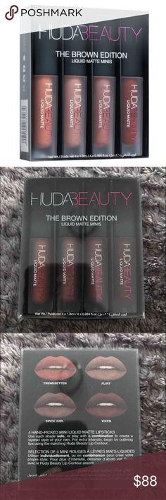 Huda Beauty Makeup, Makeup Lipstick, Eyeshadow, Make Me Up, How To Make, Travel 2017, Deep Brown, Spice Girls, Flirting