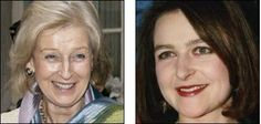 Left, Princess Alexandra, the Hon. Lady Ogilvy, widow of Sir Angus Ogilvy. On the right is her daughter, Marina Ogilvy Mowatt, she married Paul Mowatt in 1990 and was divorced in 1997. She has two children, Zenouska b. 1990 and Christian b. 1993.