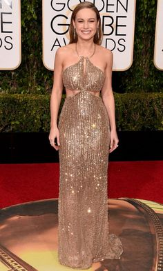 Brie Larson glistens at the Golden Globes on Jan. 10