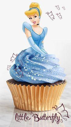 Cinderella Party Decorations, Cinderella Cupcakes, Disney Princess Cupcakes, Disney Princess Birthday Party, Cinderella Birthday, Frozen Themed Birthday Cake, Birthday Desserts, Ladybug Cupcakes, Snowman Cupcakes