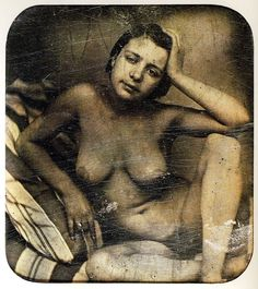 Daguerreotype of French prostitute, c.1855