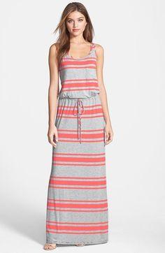 Caslon®+Drawstring+Jersey+Maxi+Dress+(Regular+&+Petite)+available+at+#Nordstrom