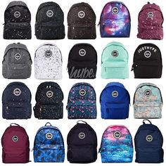 Hype Backpack Rucksack Bag - Black, Burgundy, Navy Blue, Speckled, Galaxy UK New Cute Backpacks For School, Cool Backpacks, Mochila Galaxy, Galaxy Backpack, Adidas Backpack, Hype Bags, Mochila Jeans, Floral Backpack, Rucksack Backpack