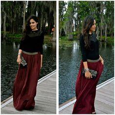 Zara Maxi Skirt, Kookai Black
