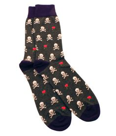 Corgi Skull & Rose Sock - Brights Men's fashion - men's style