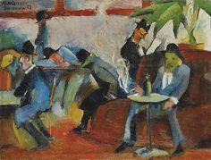Aleksander Świdwiński - In the Cafeteria, 1923