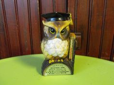Vintage Wise Old Weather Owl Made in Japan Figurine Thermometer on Etsy, $12.50