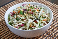 Sesame and Ginger Coleslaw (Mayoless) #lowcarb shared via https://facebook.com/lowcarbzen