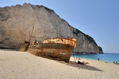 Old Boats, Landscape Pictures, Shipwreck, Greek Life, Greek Islands, Travel Around, Greece, Beach, Ships