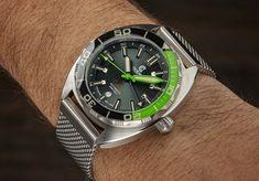 Ocean Crawler Automatic GMT Watch Powered By Soprod Watch News, Mesh Bracelet, 316l Stainless Steel, Fine Jewelry, Ocean, Followers, Core, Popular, Inspired