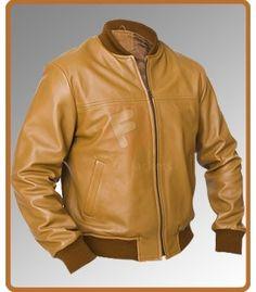 Safari Camel Men's Leather Jacket